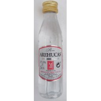 Arehucas - Ron Blanco weißer Rum 37,5% Vol. PET-Miniaturflasche 50ml produziert auf Gran Canaria