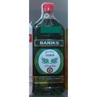Baniks - Menta Liqueur Peppermint Pfefferminzlikör 20% Vol. 1l PET-Flasche produziert auf Gran Canaria