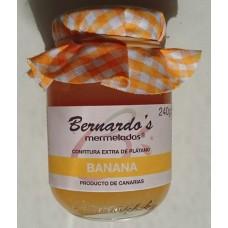 Bernardo's Mermeladas - Banana Confitura extra de Platano Bananenkonfitüre 240g produziert auf Lanzarote