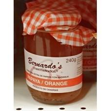 Bernardo's Mermeladas - Papaya-Orange-Konfitüre extra 240g produziert auf Lanzarote