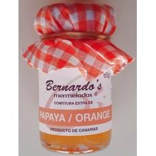 Bernardo's Mermeladas - Papaya-Orange-Konfitüre extra 65g produziert auf Lanzarote