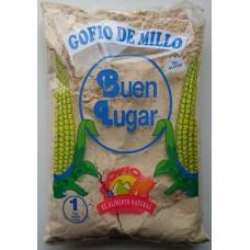 Buen Lugar - Gofio de Millo natural sin gluten Maismehl geröstet glutenfrei 1kg Tüte produziert auf Gran Canaria