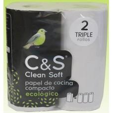 C&S - Clean Soft papel de cocina compacto ecologico Bio Wischrollen 2 Stück produziert auf Teneriffa