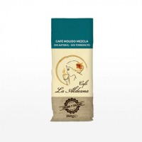 Cafe la Aldeana - Cafe Molido Mezcla 50% Natural 50% Torrefacto Röstkaffee gemahlen 250g Tüte angebaut und produziert auf Gran Canaria
