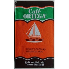 Cafe Ortega - Cafe Molido de Tueste Natural gemahlener Kaffee 250g Karton produziert auf Gran Canaria