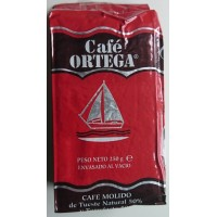 Cafe Ortega - Cafe Molido Mezcla de Tueste Natural 50% y Torrefacto 50% Röstkaffee gemahlen 250g produziert auf Gran Canaria