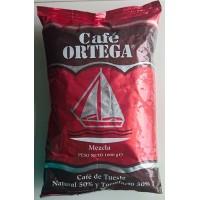 Cafe Ortega - Mezcla 50% natural & 50% torrefacto Kaffee ganze Bohnen Tüte 1kg produziert auf Gran Canaria