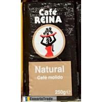 Cafe Reina - Tueste Natural Cafe Molido Röstkaffee gemahlen 250g Karton produziert auf Teneriffa