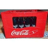 Coca-Cola Zero Konturflasche Kronkorken 24x Glasflasche 350ml Kasten inkl. Mehrweg-Pfand 7,50 Euro - produziert auf Teneriffa (Tacoronte)