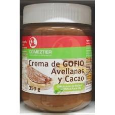 Comeztier - Crema de Gofio Avellanas y Cacao Eco Gofio-Haselnuss-Schoko-Aufstrich Bio 350g Glas produziert auf Teneriffa