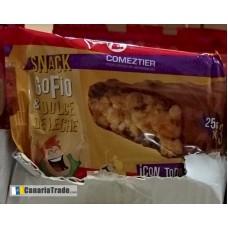 Comeztier - Barrita Snack de Gofio & Dulce de Lece Riegel 3x25g produziert auf Teneriffa