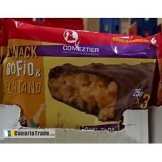 Comeztier - Barrita Snack de Gofio & Platano Riegel 3x25g produziert auf Teneriffa