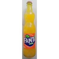 Fanta Naranja Orange Konturflasche Kronkorken Glasflasche 350ml - produziert auf Teneriffa (Tacoronte)