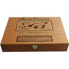 Flor de Canarias - Coronas 25 Puros Zigarren Holzschatulle produziert auf Teneriffa