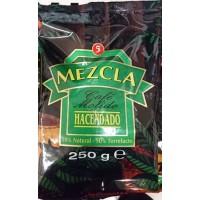 Hacendado - Cafe Molido Mezcla 50% Natural 50% Torrefacto Nr. 5 Kaffee gemahlen 250g Tüte produziert auf Teneriffa