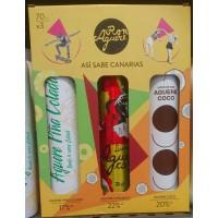 Aguere - Ron Aguere Licor Set Caramelo, Coco, Pina Colada 3x700ml Alu-Flaschen produziert auf Teneriffa