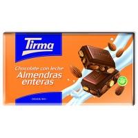 Tirma - Chocolate con Leche Almendras enteras Nussschokolade 150g produziert auf Gran Canaria