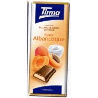 Tirma - Chocolate Sabor Albaricoque Vollmilchschokolade Aprikosencremefüllung 95g produziert auf Gran Canaria