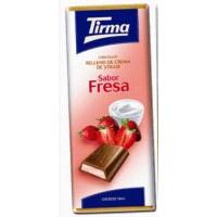 Tirma - Chocolate Sabor Fresa Milchschokolade Erdbeercremefüllung 95g produziert auf Gran Canaria