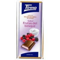 Tirma - Chocolate Sabor Frutas de Bosque Vollmilchschokolade Waldfrucht-Cremefüllung 95g produziert auf Gran Canaria