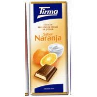 Tirma - Chocolate Sabor Naranja Vollmilchschokolade Orangencremefüllung 95g produziert auf Gran Canaria